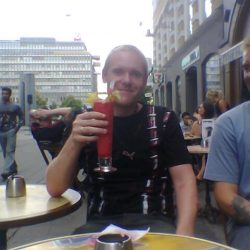 Morten with a colourful drink